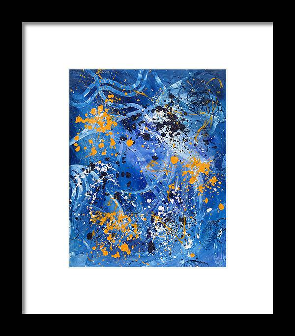 Abstract Framed Print featuring the painting Passage A Travers La Galaxie 1 by Dominique Boutaud