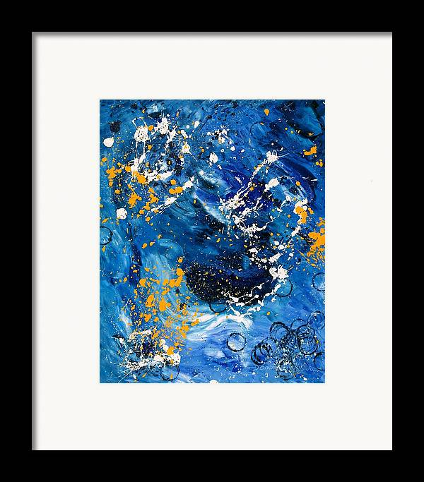 Abstract Framed Print featuring the painting Passage A Travers La Galaxie 2 by Dominique Boutaud