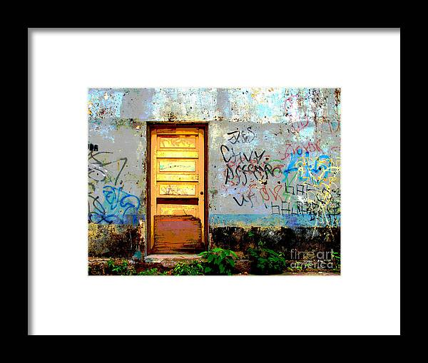 Darian Day Framed Print featuring the photograph Passersby By Darian Day by Mexicolors Art Photography