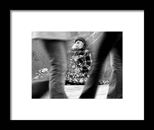 Street Photography Framed Print featuring the photograph Passersby by Todd Fox