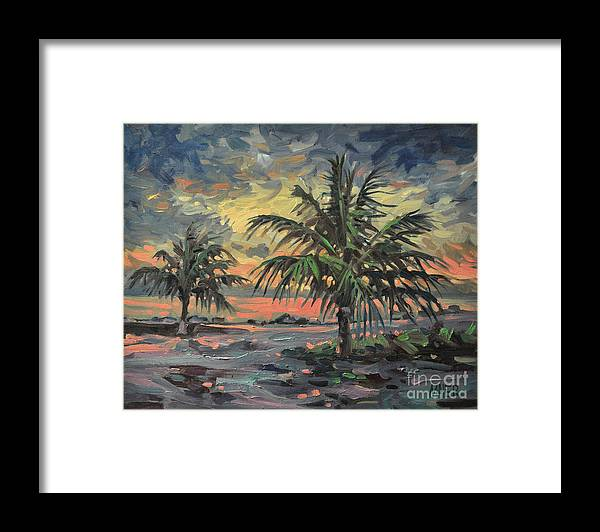 Tropical Storm Framed Print featuring the painting Passing Storm by Donald Maier