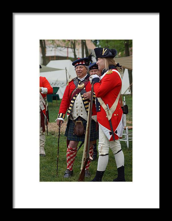 Revolutionary War Framed Print featuring the photograph Passing The Time Of Day by Carrie Goeringer