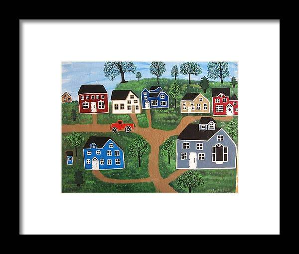 Folk Art Framed Print featuring the painting Passing Through Latavnia Willow by Mike Filippello