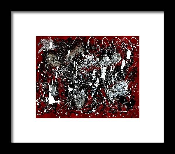 Mixed Medium Very Modern Framed Print featuring the painting Passion by Dawn Downour