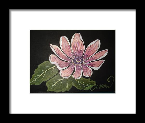 Passion Framed Print featuring the painting Passion Flower by Tonya Hoffe