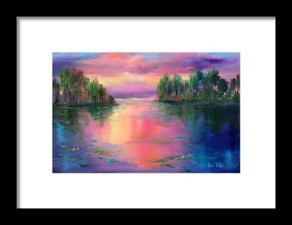 Ponds Framed Print featuring the painting Passion In Provence by Sally Seago