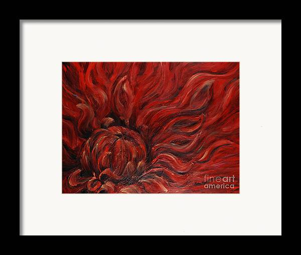 Flower Framed Print featuring the painting Passion Iv by Nadine Rippelmeyer