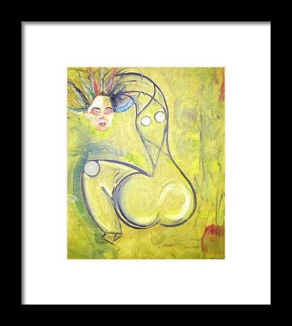 Woman Framed Print featuring the painting Passion by Narayanan Ramachandran