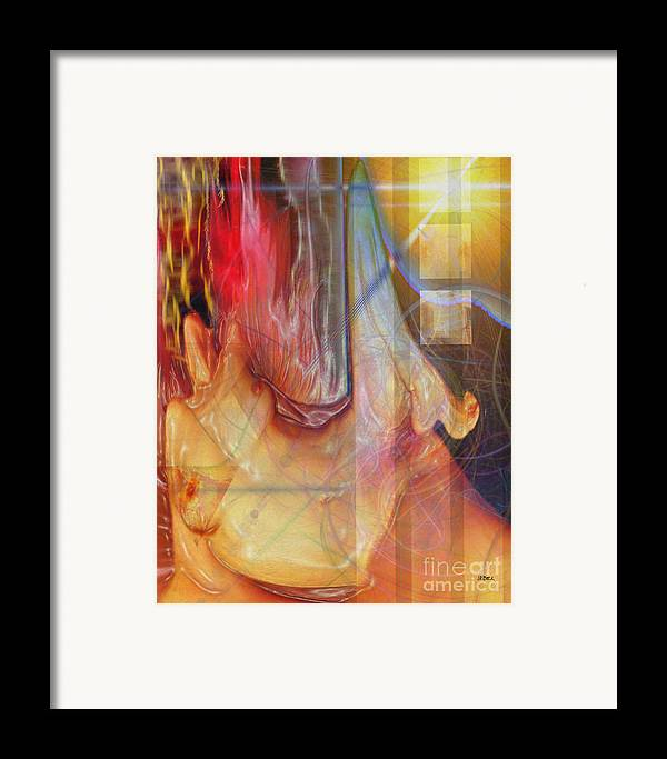 Passion Play Framed Print featuring the digital art Passion Play by John Beck