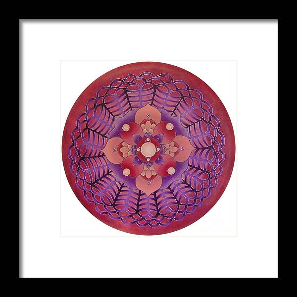 Mandala Framed Print featuring the painting Passionate Pink by Charlotte Backman