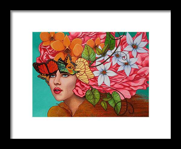 Woman Framed Print featuring the painting Passionate Pursuit by Helena Rose