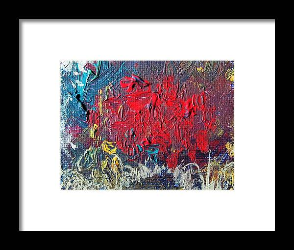 Red Framed Print featuring the painting Passions by Trilby Cole