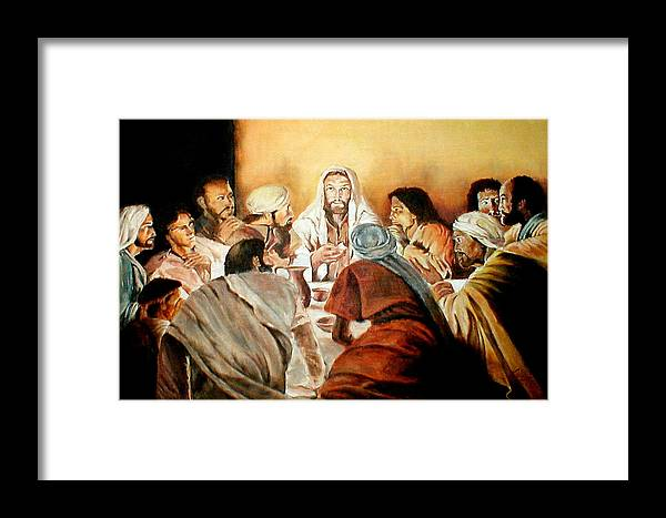 Christ Framed Print featuring the painting Passover by G Cuffia