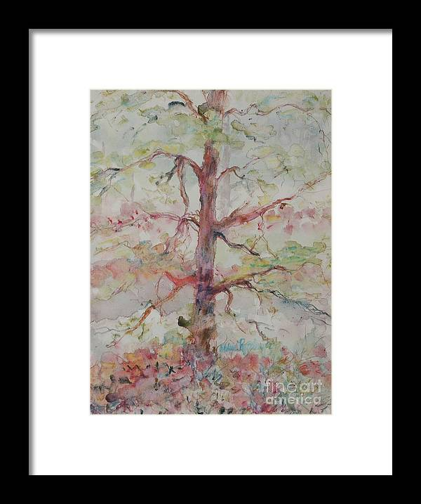Forest Framed Print featuring the painting Pastel Forest by Nadine Rippelmeyer