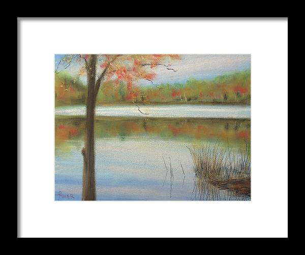 Lakescape Framed Print featuring the painting Pastel Lake by Pete Maier