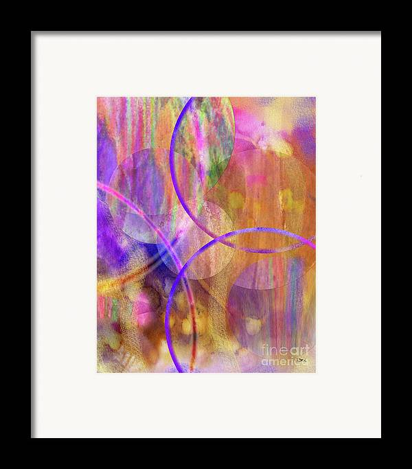 Pastel Planets Framed Print featuring the digital art Pastel Planets by John Beck