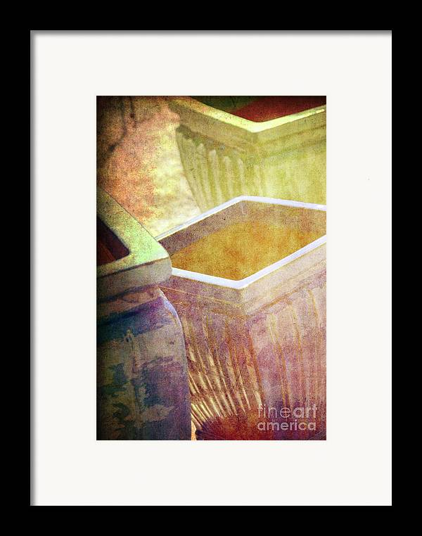 Pottery Framed Print featuring the photograph Pastel Pottery by Susanne Van Hulst