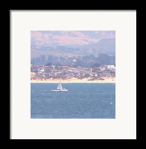 Sailing Framed Print featuring the photograph Pastel Sail by Pharris Art