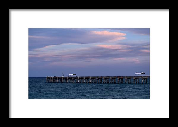Sunset Framed Print featuring the photograph Pastel Skies by Maria Keady