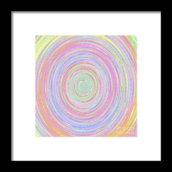 Unique Framed Print featuring the digital art Pastel Whirlpool by Susan Stevenson