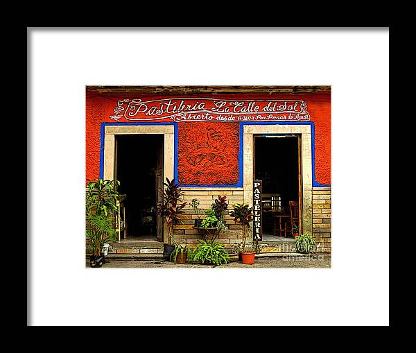 Darian Day Framed Print featuring the photograph Pastileria by Mexicolors Art Photography