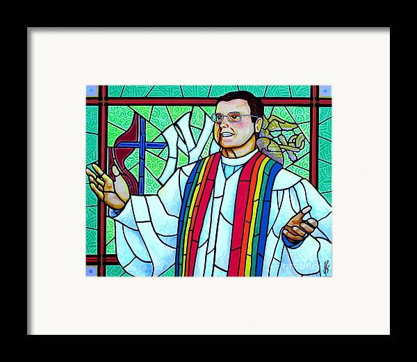 Pastor Framed Print featuring the painting Pastor Charlie by Jim Harris