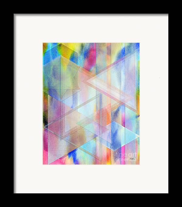 Pastoral Moment Framed Print featuring the digital art Pastoral Moment by John Beck