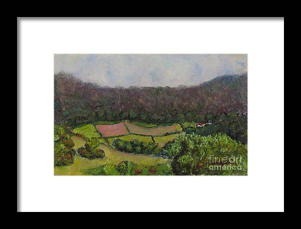 Pastoral Framed Print featuring the painting Pastoral Patches by Laurie Morgan