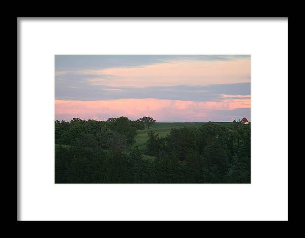Such Beautiful Colors Framed Print featuring the photograph Pasture Scene by Linda Ostby
