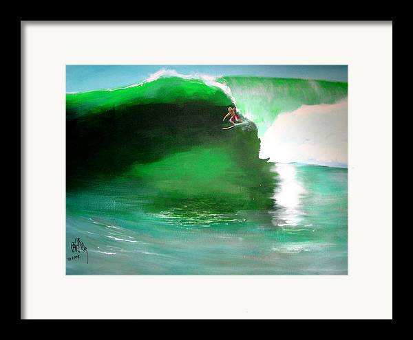 Surf Framed Print featuring the painting Pat Connor Leaving Church K55 Baja by Paul Miller