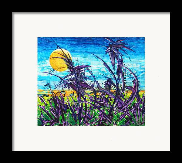 Landscape Framed Print featuring the painting Patch Of Field Grass by Rollin Kocsis