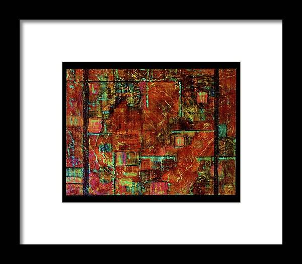 Patchwork Framed Print featuring the mixed media Patchwork by Lynn Watters