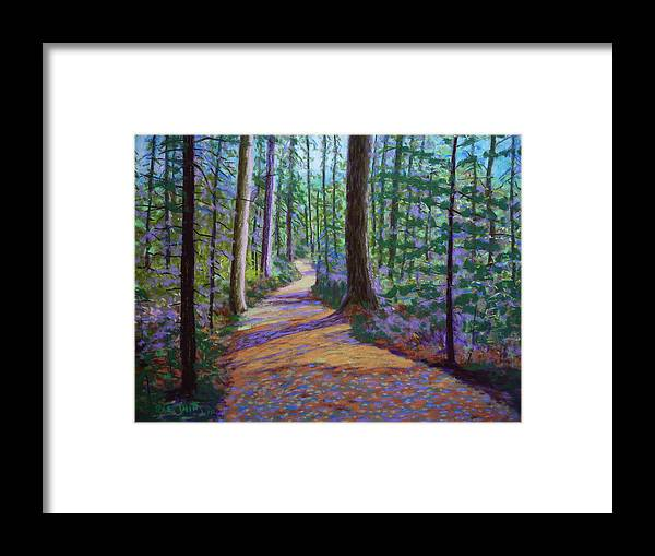 Landscape Framed Print featuring the pastel Path To Hubbards Farm Market by Rae Smith