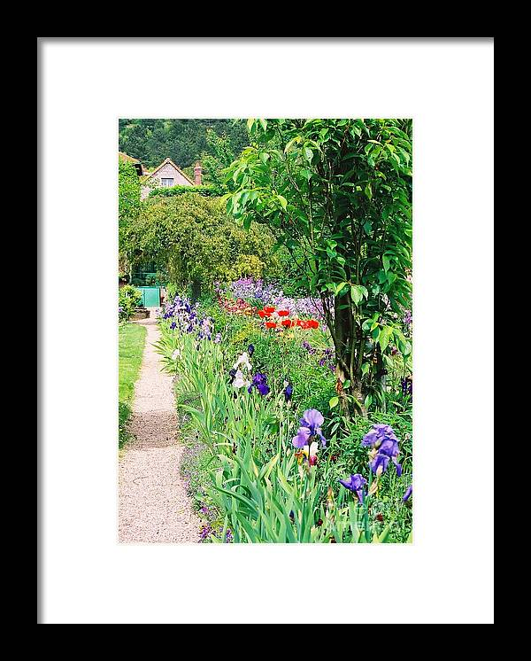 Claude Monet Framed Print featuring the photograph Path to Monet's House by Nadine Rippelmeyer