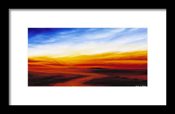 Sunrise Framed Print featuring the painting Path To Redemption by James Christopher Hill