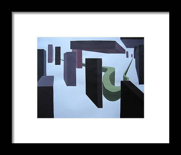 Abstract Framed Print featuring the painting Path Way To Infinity by Jessica De la Torre