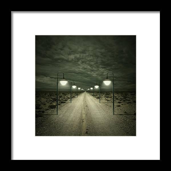 Dark Framed Print featuring the digital art Path by Zoltan Toth