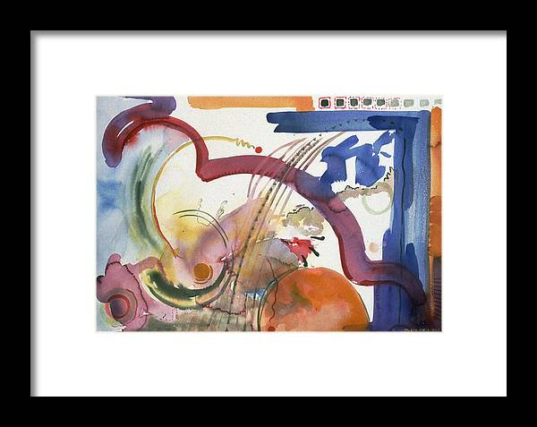 Abstract Framed Print featuring the painting Paths And Places by Eileen Hale
