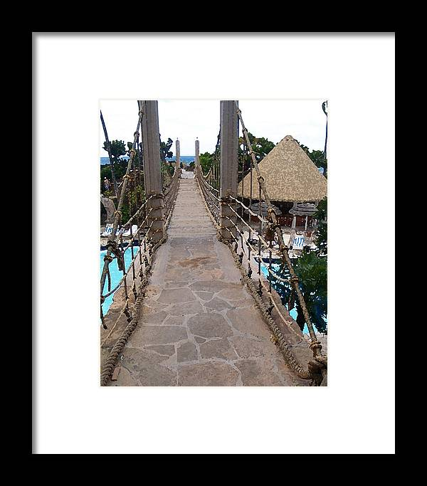 Bridge Framed Print featuring the photograph Pathway by Athala Carole Bruckner