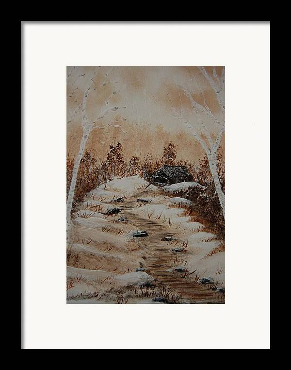 Acrylics Framed Print featuring the painting Pathway To Freedom by Laurie Kidd