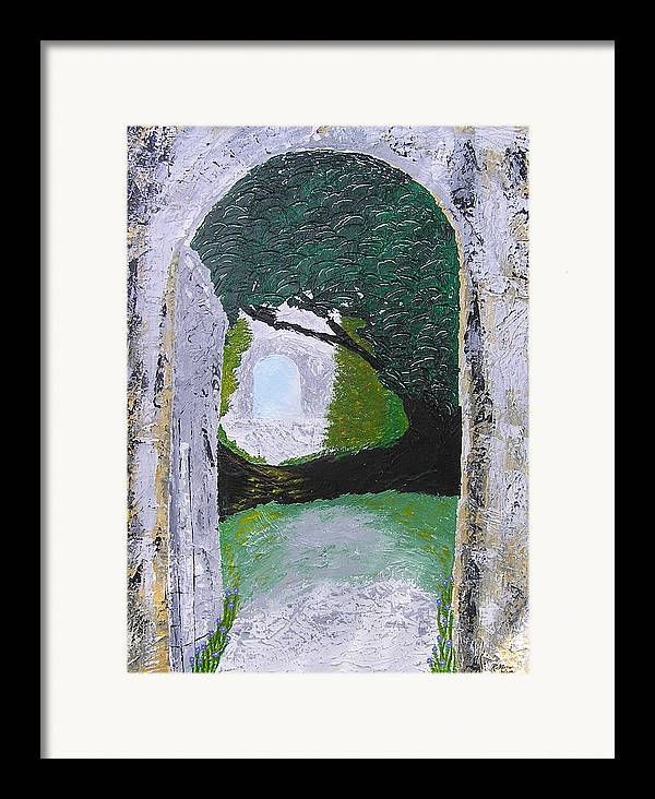 Path Framed Print featuring the painting Pathway To Peacefullness by Ricklene Wren