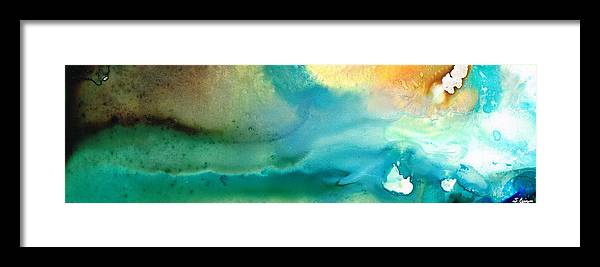 Abstract Art Framed Print featuring the painting Pathway To Zen by Sharon Cummings