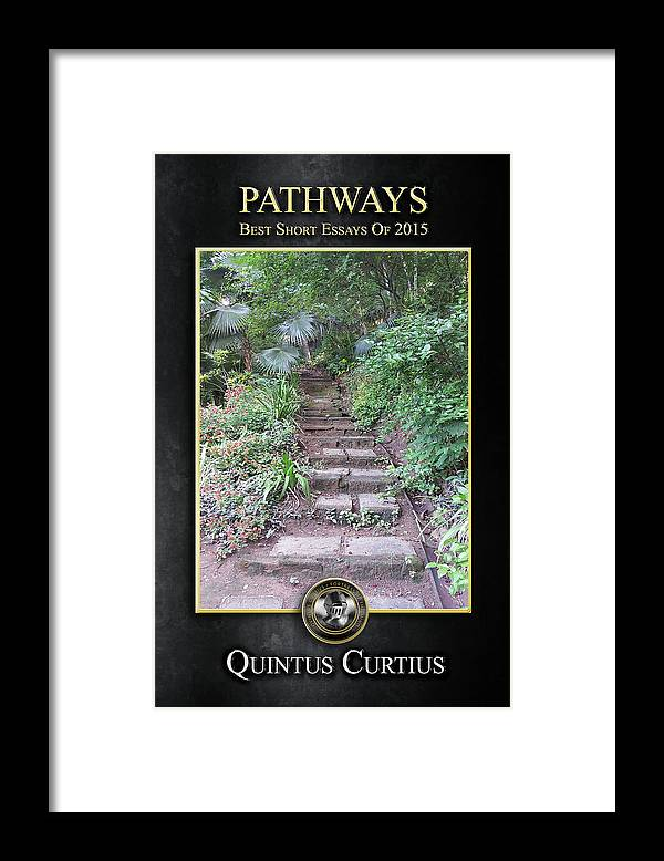 Pathways Framed Print featuring the digital art Pathways by Quintus Curtius