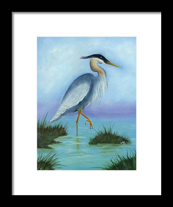 Fowl Framed Print featuring the print Patience by Mary Gaines