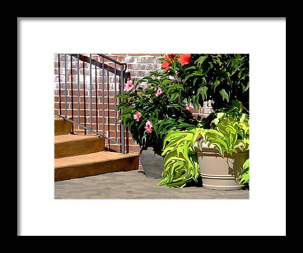 Scenic Framed Print featuring the photograph Patio Scenic by Jim Darnall