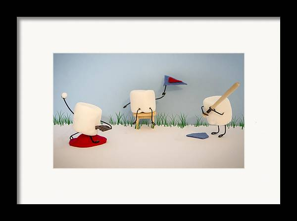 Baseball Framed Print featuring the photograph Patisserie Pastime by Heather Applegate
