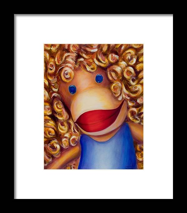 Children Framed Print featuring the painting Patricia by Shannon Grissom