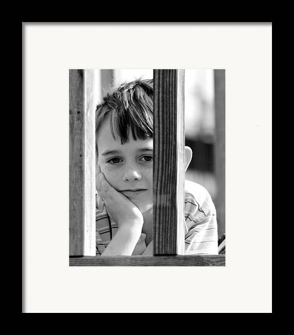Framed Print featuring the photograph Patrick W - Spring 1 by Lisa Johnston