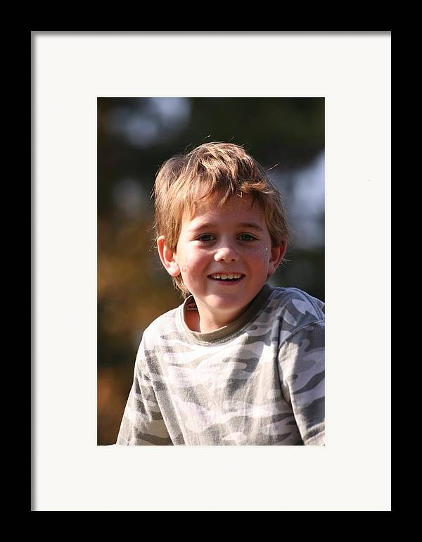 Framed Print featuring the photograph Patrick W by Lisa Johnston