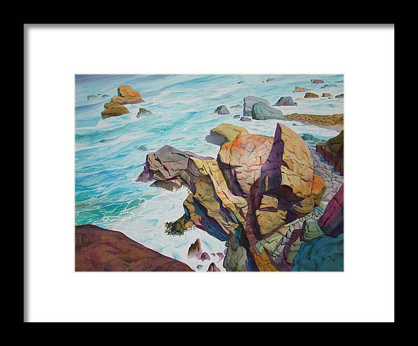 Watercolor Framed Print featuring the painting Patricks Point by John Norman Stewart
